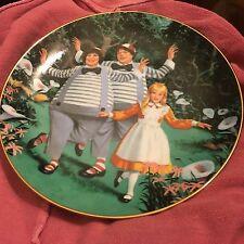 1985 Alice in Wonderland -Tweeddledee Tweedledum- Royal Wickford Porcelain Plate