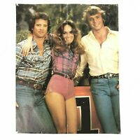 Vintage 1980s Dukes Of Hazzard Poster Double Sided Reversible Bo Luke Daisy Duke
