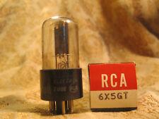 Vintage Nos Nib 1960 Rca 6X5Gt Rectifier Tube Black Plate for Guitar Amp