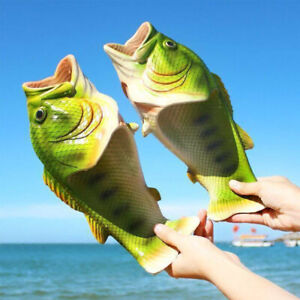 Funny Unisex Fish Shower Slippers Beach Summer Shoes Sandals Flip Flops Gifts
