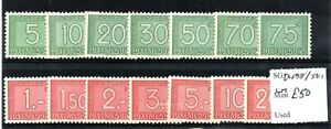 Luxembourg 1946/47 Postage Due set SGD488/501 Lightly Hinged Mint SG cv £50