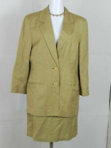 Womens Vintage Bridgetown Collection Womens Skirt Suit 2-piece Size S Beige
