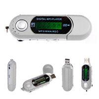 4GB MP3 PLAYER SILVER POCKET USB SLIM THIN MULTIMEDIA MUSIC WITH FM RADIO