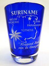 SURINAME COBALT BLUE SHOT GLASS SHOTGLASS
