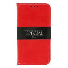 Huawei P10 Lite echt Leder Book Cover Case Handy Tasche Buch Schutzhülle rot