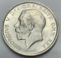 Great Britain George V Silver Half Crown 1919 Nice