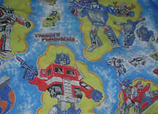 TRANSFORMERS  TOP BED SHEET  1984  TWIN SIZE  SHEET ONLY  EARLY TRANSFORMERS