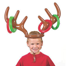 Antler Reindeer Hat Christmas Party Game Ring Moose Inflatable Toss Holiday Toys