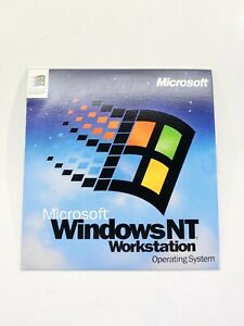 Microsoft Windows NT WorkStation Version 4 Operating System Software CD with Key