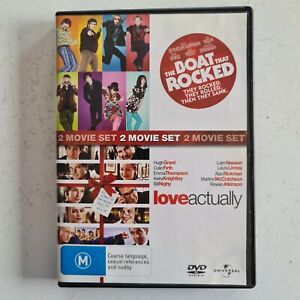 2 Movie Set The Boat That Rocked / Love Actually - Region 2,4 -Free Tracked Post