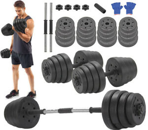 Deluxe 30Kg Dumbbells Pair of Weights Barbell/Dumbells Body Building Set Gym Kit