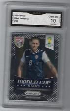 2014 Prizm Soccer World Cup Stars Clint Dempsey GMA Graded 10