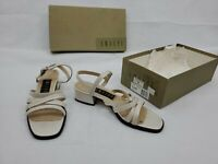 Vtg Amalfi Heels Sandals Women's 8 B Quality Leather Made In Italy W/ Orig. Box