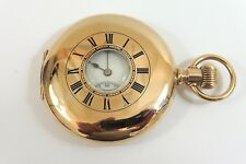 c1914 GENTS GOLD FILLED ELGIN 1/2 HUNTER POCKET WATCH GOOD CONDITION FOR REPAIR