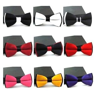 Bow Tie -Mens Wedding Prom Party Pre-Tied Adjustable Dickie Bow Neck Tie