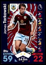 Match Attax 2016-2017 James Tarkowski Burnley Base card No. 40