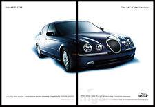 Jaguar S-type 2-pg print ad 2000 The Art of Performance