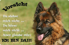 Deutscher SCHÄFERHUND - A4 Metall Warnschild Hundeschild Alu SCHILD - DSH 34 T2