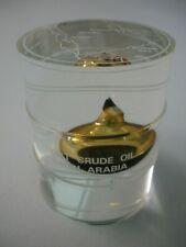 SAUDI ARABIA MINIATURE LIGHT CRUDE OIL BARREL SOUVENIR COLLECTIBLE OIL DRUM