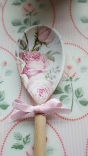 Shabby Chic Floral Pink Roses Wooden Spoon