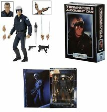 "NECA TERMINATOR 2 JUDGEMENT DAY ULTIMATE MOTORCYCLE COP T-1000 7"" ACTION FIGURE"