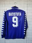 Fiorentina #9 BATISTUTA RETRO SOCCER VINTAGE FOOTBALL LONG SLEEVE SHIRT JERSEY Z