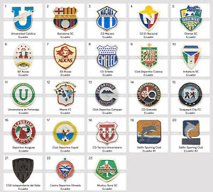 Metal Pin Ecuador Football Clubs South America CONMEBOL
