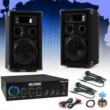 Musikanlage Komplettsystem Musikboxen Verstärker Bluetooth Dj Equipment Mikrofon