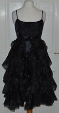 Patternless Regular Size Sleeveless Tiered Dresses for Women