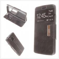 3bbcb40445e Funda libro con ventana Samsung Galaxy S6 Edge Sm- de Polipiel cuero  calidad AAA Rosa
