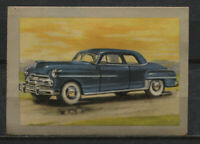 Dodge Club Coupe 1950 Vintage 1950s Dutch Trading Card No. 101