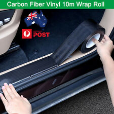 5CM * 10 Meter Carbon Fiber Vinyl Sticker  Wrap Roll Decal Door Sill Side Skirt