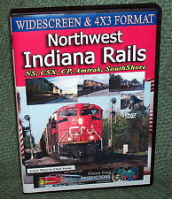 "20294 TRAIN VIDEO DVD ""NORTHWEST INDIANA RAILS"" NS, CSX, CP, AMTRAK"