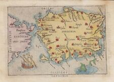 1655  Scarce Ortelius Map of the Island of Sardinia