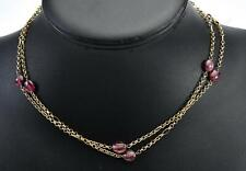 9k solid yellow gold & Tourmaline Chain Necklace 9.50g / 80.5cm