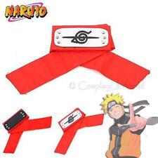 Naruto Anime Sasuke, Itachi Uchiha Akatsuki Cane Anti Leaf Red Headband Cosplay