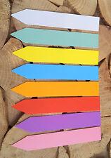 8 Farben 150 x Stecketiketten Etiketten Kunststoff Pflanzen Beetschilder Stecken