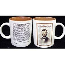CIVIL WAR PRESIDENT ABE ABRAHAM LINCOLN HISTORY GETTYSBURG ADDRESS MUG NEW
