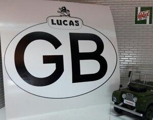 Land Rover Serie 2a 3 Clásico Camper Lucas GB Gran Bretaña Touring Pegatina