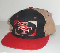 Vintage San Francisco 49ers Cap Pro Player Snapback Hat 90s Team NFL Black Red