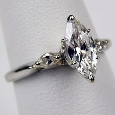 1 ct Marquise Diamond Engagement Ring EGL E / VS1 Platinum Ring Size 7 1/4 A1700