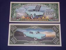 UNC1955 FORD THUNDERBIRD  NOVELTY NOTE ONLY .25 SHIPPING FREE SHIP + FREE NOTES!