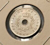 1954 Greece 5 Lepta - Awesome Coin -Full Luster - See PICS