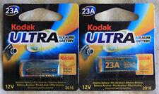 2 pilas alcalina Kodk 23A 12V uso en mandos,alarmas,etc.