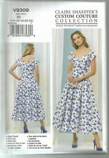 Vogue Sewing Pattern 9309, Claire Shaeffer Dress, Size 14 - 22, New