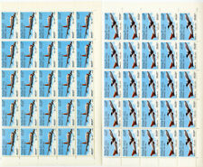 Laos Stamps # C120-1 NH Sheets of 25 Airplane Topic Scott Value $287.00