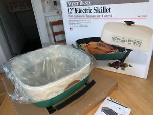 Vintage West Bend 12 inch Electric Skillet No 72015 New In Box