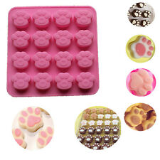 Cat Paw Print Silicone Cookie Cake Candy Chocolate Mold Soap Ice Cube Mold 2017
