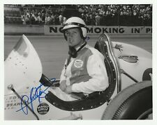 "1958 AJ FOYT JR signed USAC SPRINT CAR INDIANAPOLIS 500 8"" by 10"" PHOTO INDY tb"