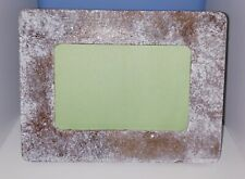 Sparkling brown white copper Shabby Chic Rustic Distressed Wood Picture Frame4x6
